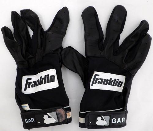 Edgar Martinez Autographed Game Used Franklin Batting Gloves Signed Cert 125282 MLB Game Used Gloves
