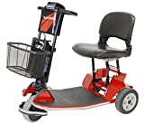 Amigo TravelMate Light and Compact, Foldable, Electric Travel and Mobility Scooter, Chili Pepper Red