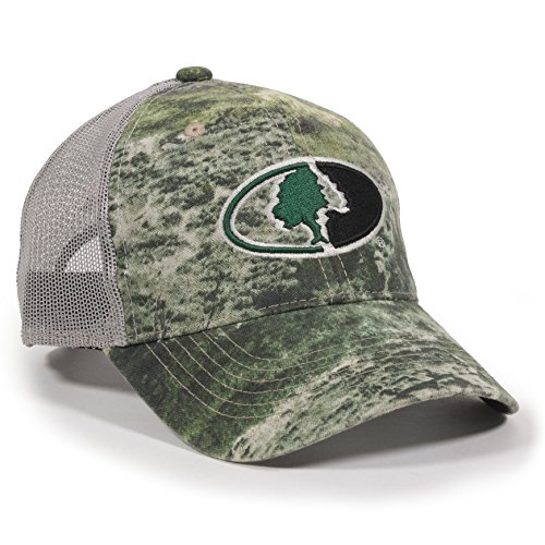 Outdoor Cap Unisex-Adult Mossy Oak Camouflage Mesh Back Cap, Mossy Oak Mountain Country/Gray, Adult