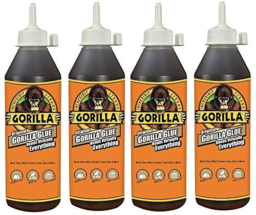 Gorilla Original Gorilla Glue, Waterproof Polyurethane Glue, 18 ounce Bottle, Brown (Fоur Расk) (Best Glue For Polyurethane)