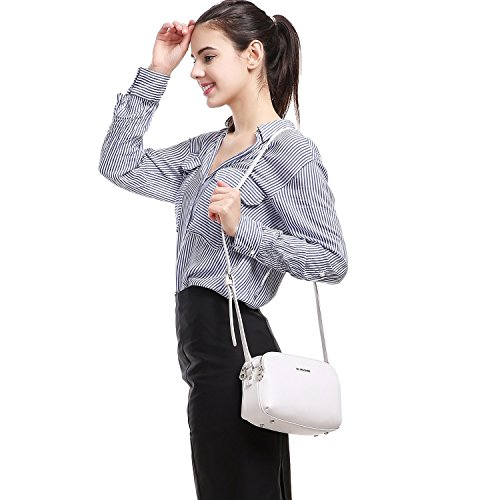 Leather Faux Travel David Fashion Medium Crossbody Jones Wallet Bag Messenger Saddle Zipper Purse Handbag Women's Basic Pockets Shoulder White Black Ladies Multi APPtEwWq