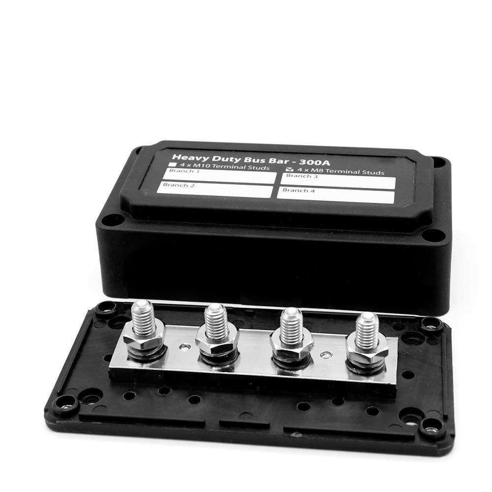Heavy Duty 4 Way Bus Bar Power Distribution Box 300A Modular Box Design Easy Wiring Wonfiguration by ZIJIA (Image #1)