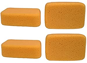 Creative Hobbies Value Pack of 4 Sponges for Painting, Crafts, Grout, Cleaning & More, Synthetic Silk Sponges, BIG 7.5 inch x 5 inch x 2 inch thick