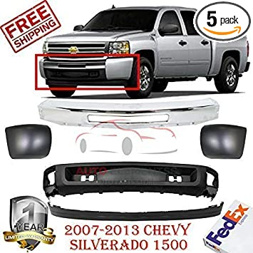 FOR 2007-2013 SILVERADO 1500 FRONT BUMPER MOUNTING EXTENSION END W//O FOG HOLE 4P