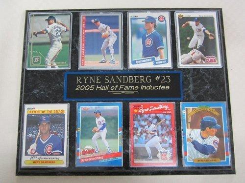 (Cubs Ryne Sandberg Hall of Fame 8 Card Plaque )