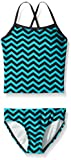 Kanu Surf Big Girls' Melanie Beach Sport 2-Pc Banded Tankini Swimsuit, Alexa Blue Chevron, 14