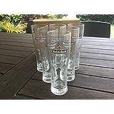 Ileauxtresors - Lote de 6 vasos de tubo Star Heineken de 25 cl.