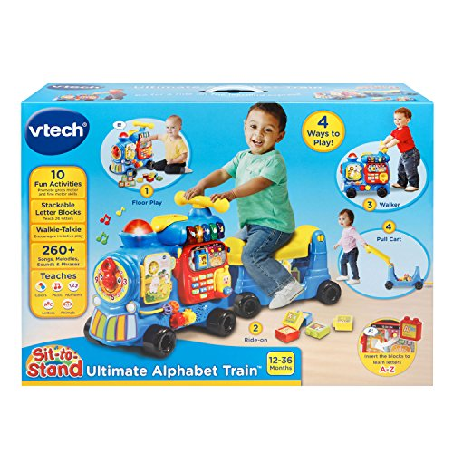 VTech Sit-to-Stand Ultimate Alphabet Train Amazon Exclusive, Blue by VTech (Image #6)