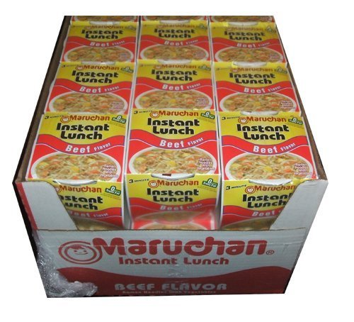 Maruchan Instant Lunch Cup O Noodles Beef Flavored Soup 24 Cups Per Box ()