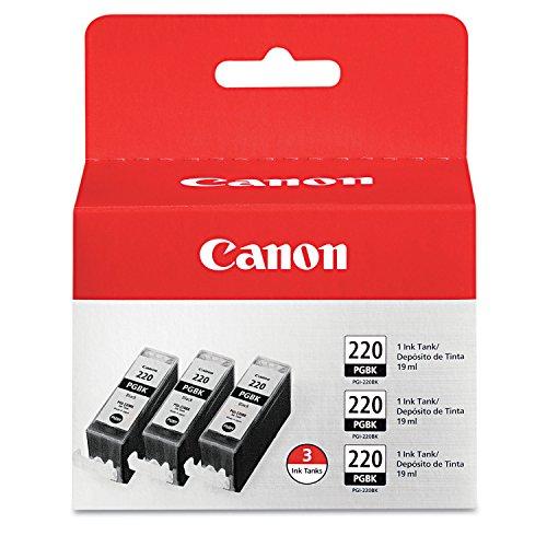 Canon Oem Ink Tank (Canon (pgi-220bk) Black Pigment Ink Tank Multipack (3 Pack Of Oem# 2945b001))