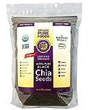 Ultrapure, Premium Organic Black Chia Seeds 3 lb. Bag. Non-GMO