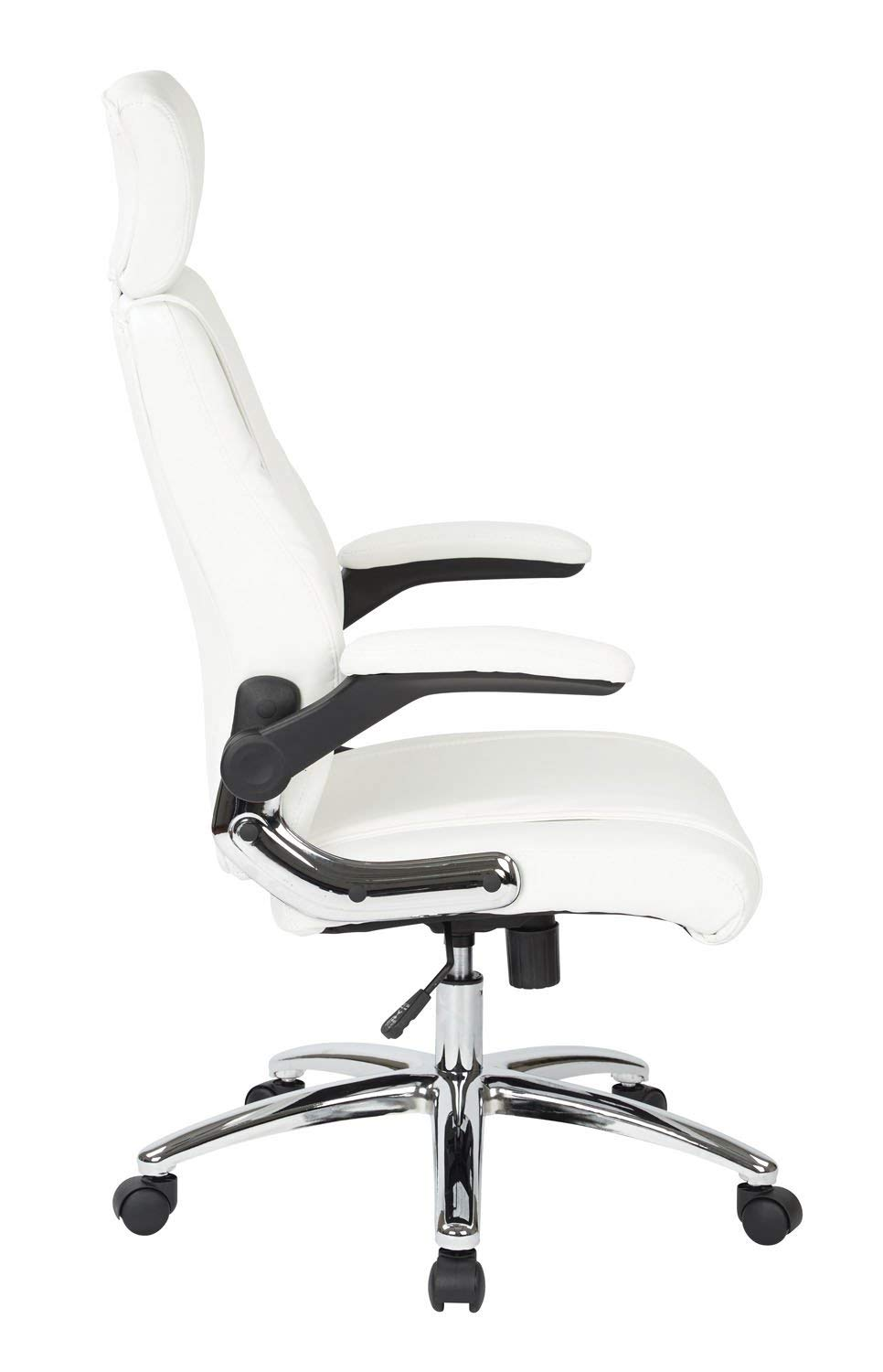 Work Smart FL27513C-U11-osp Executive Faux Leather Chair, White