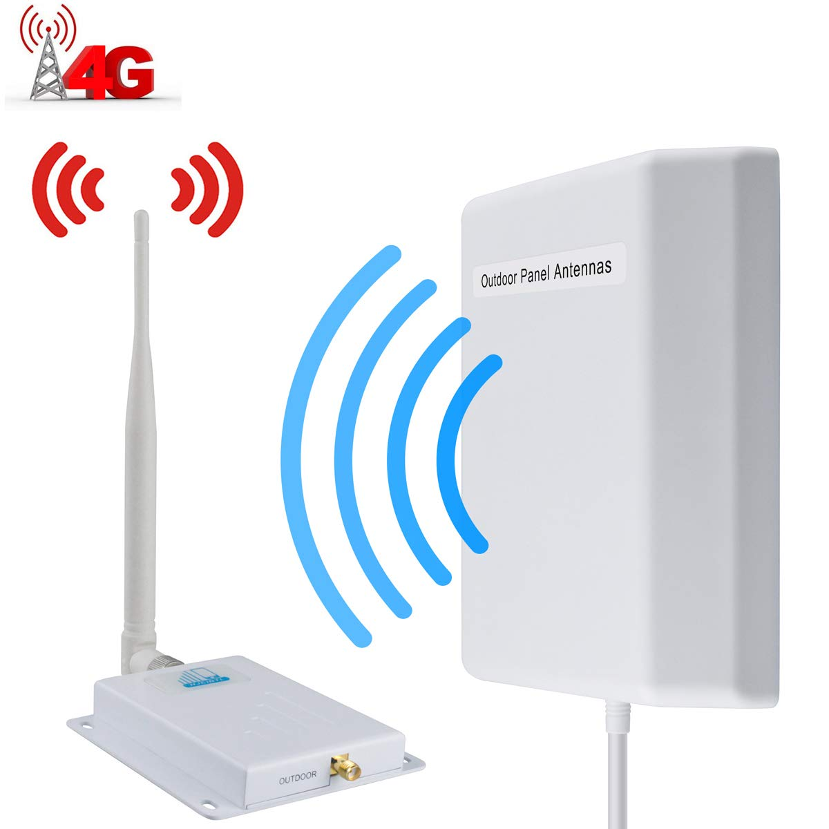 Cell Phone Signal Booster AT&T 4G LTE Signal Booster ATT T-Mobile Cell Signal Booster High Gain Cell Phone Booster HJCINTL FDD 700Mhz Band 12/17 High Gain Mobile Phone Signal Booster for Home by HJCINTL