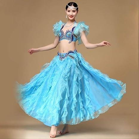 KLMWDDPWY Danza del Vientre Mujer Nuevo Vestido De Danza Oriental ...