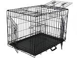 Go Pet Club 3-Door Metal Pet Crate, 30-Inch