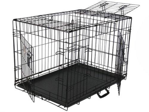GoPetClub 3-Door Metal Pet Crate, 30-Inch