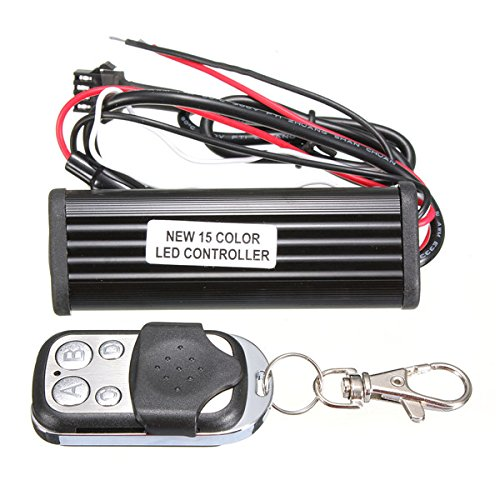 car motorcycle rgb color led controller remote strip light by QOJA