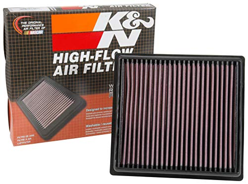 K&N engine air filter, washable and reusable:  2015-2019 BMW (120i, 125i, 220i, 230i, 320i, 330e, 340i, 420i and other select models) 33-3051