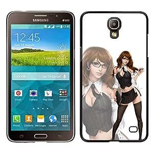 EJOY---Cubierta de la caja de protección para la piel dura ** Samsung Galaxy Mega 2 ** --sexy dama pelirroja chica nena de limpieza