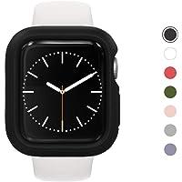 RhinoShield Bumper Case für Apple Watch Series 4 / 5 [44 mm - NICHT 40 mm] - CrashGuard NX - Stoßabsorbierende Dünn Designte Schutzhülle 1.2M Fallschutz - Schwarz