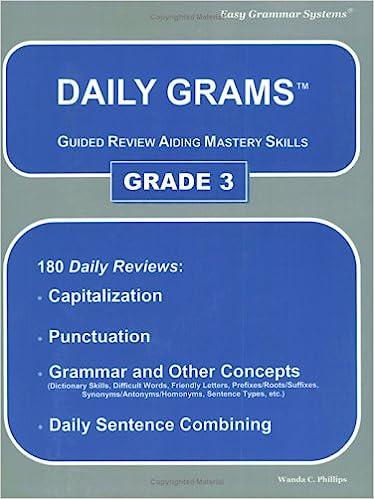 Daily Grams: Guided Review Aiding Mastery Skill, Grade 3: Wanda C ...