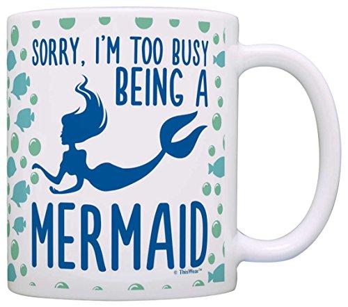 Mermaid Gifts Sorry Coffee Pattern