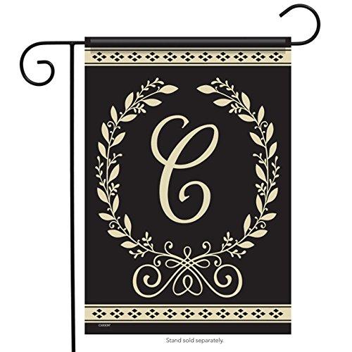 "Classic Monogram C - 12.5""X18"" Garden Flag - Carson Flag Tre"