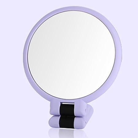 health uk mirror folded handholding cute beauty vanity mirror abs makeup desktop dressing hand holding mirror d17 hand