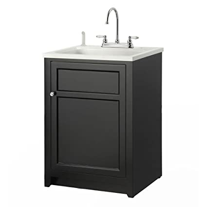 Amazon.com: Foremost Conyer 24 in. Laundry Vanity in Black and ABS ...