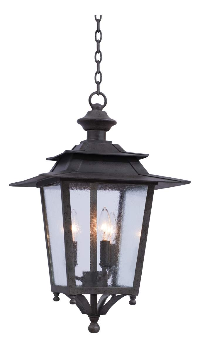 Saddlebrook Large Hanging Lantern Aged Iron