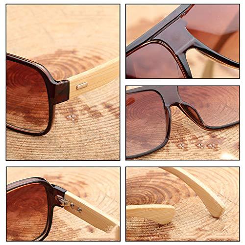 Lunettes Lens Soleil Unisexe Black Soleil Conduite Rétro Couleur Lunettes Light Fashion Lunettes Black Purple Frame de Purple Wood Bambou de avec colorées Lunettes lentilles Square Lens Bamboo Frame vq80xSvnB