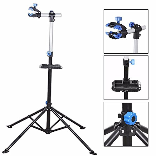 Bike Repair Stand Rack Foldable Cycle Bicycle Workstand Home Pro Mechanic Maintenance Tool Adjustable 41'' To 75'' With Telescopic Arm Clamp Lightweight and Portable by Noa Store
