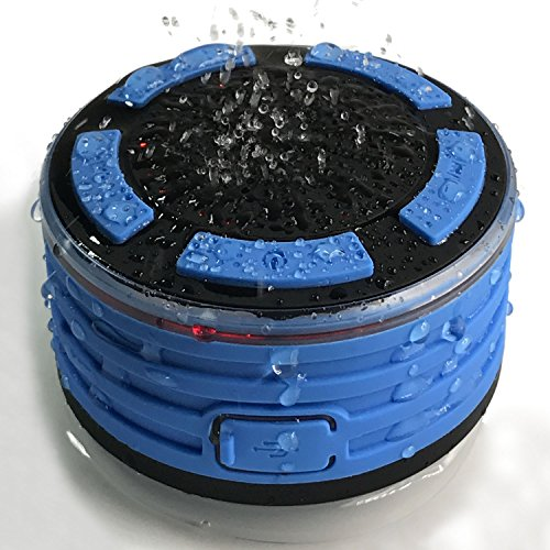 TOP Shower Speaker, IPX7 Portable Waterproof Bluetooth Speak