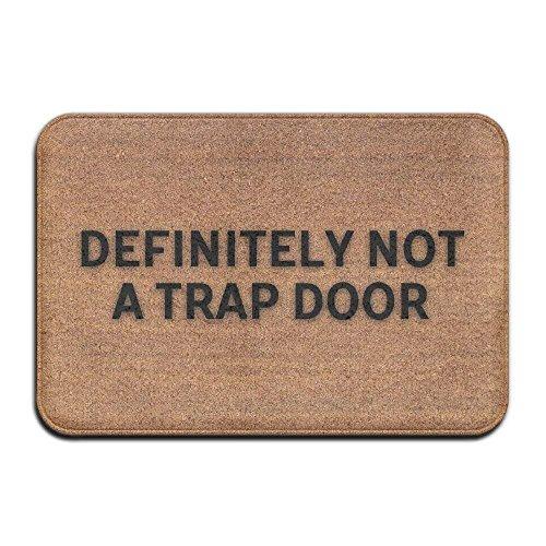 Super Trap Entrance - DEFINITELY NOT A TRAP DOOR Super Absorbent Anti-Slip Mat,Coral Carpet,Carpet Door Mat,Carpet,Carpet,Door Mat,40x60 Cm