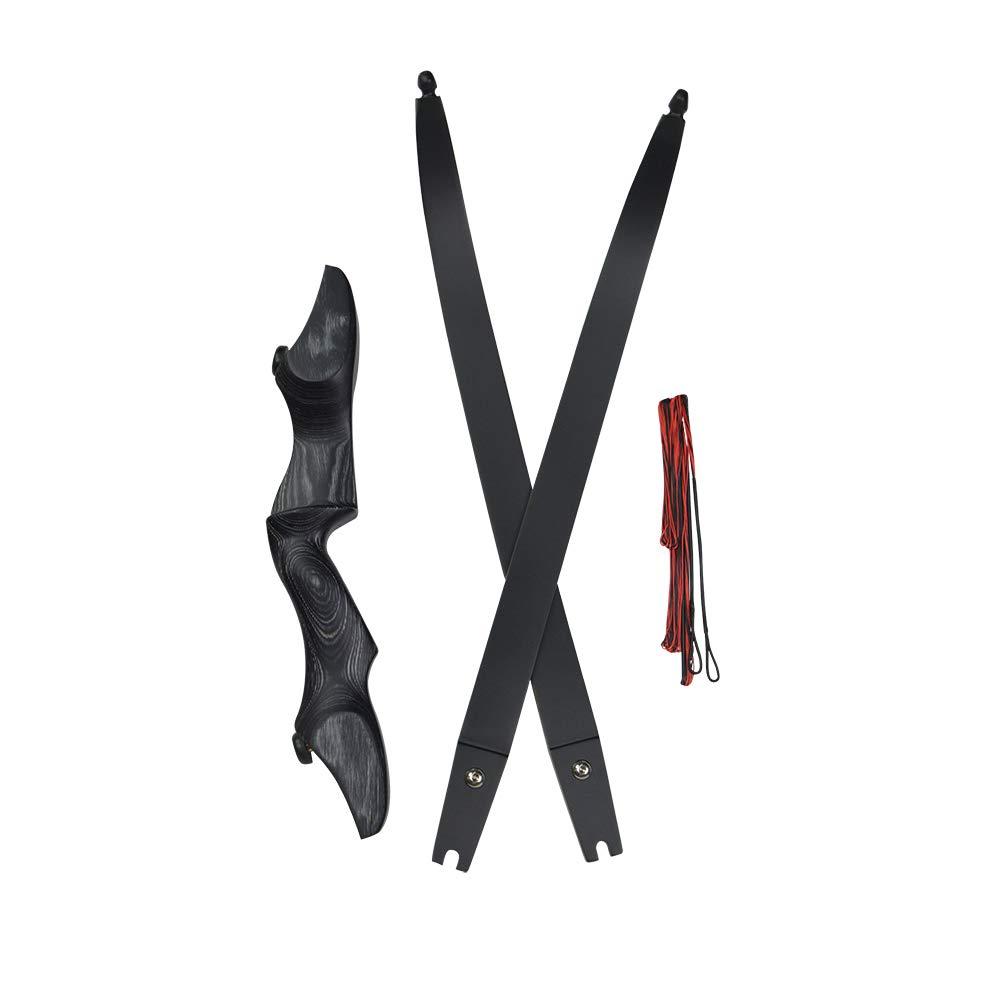 MILAEM 30-60lbs Bogenschie/ßen Recurve Bogen 60 Zoll Takedown Longbow Jagd Praxis Schie/ßen Spiel