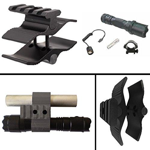Ultimate Arms Gear Barrel/Mag Tube Mount, Black + Flashlight