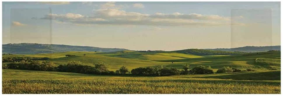"""Country Microwave Oven Cover,Tuscany Hills Italy Meadow Greenery Pastoral Rural Scenery Farmland Scenic Cover for Kitchen,36""""L x 12""""W"""