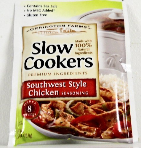Orrington Farms Southwest Style Chicken Seasoning for Slow Cookers-6 (SIX) 2.5oz Packets by Orrington Farms