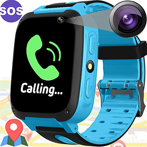 Kid Smart Watch with GPS Tracker - Kids Smartwacth for Girls Boys with Cell Phone SOS Anti-Lost Camera Game Outdoor Children Digital Wrist Watch Sport Fitness Tracker for School Class Prize Gifts
