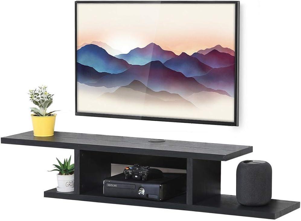 3 - Best Modern Floating shelf for TV: FITUEYES Modern Wall Mounted TV shelf