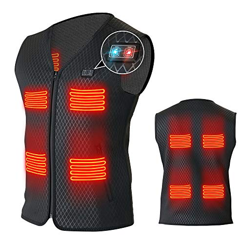 Heated Vest for Men Women with 8 heating panels-Not Included Power Bank/Battery