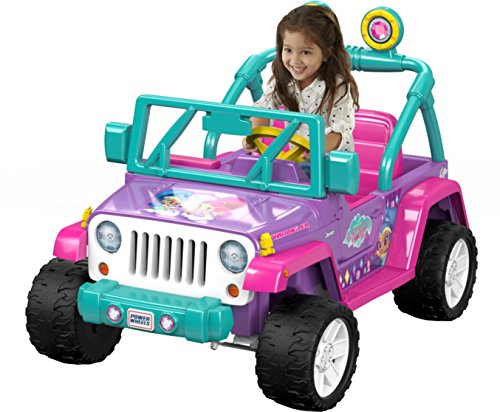 Fisher-Price DWR11 Power Wheels Nickelodeon Shimmer & Shine Jeep Wrangler