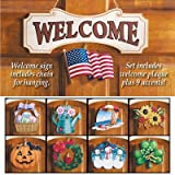 Seasonal Welcome Sign Decoration - 10 Piece Set, Multi