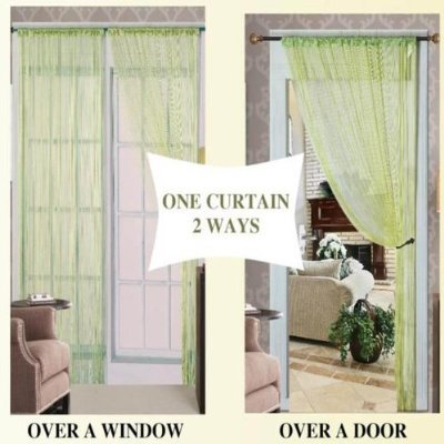 (Kashi Home Thread Curtain with Taffeta Rod Pocket,)
