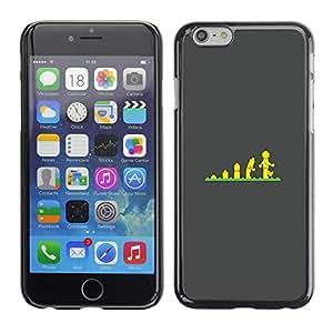 For Apple iPhone 6(4.7 inches) Case , Evolution Stairs Children'S Poster - Diseño Patrón Teléfono Caso Cubierta Case Bumper Duro Protección Case Cover Funda
