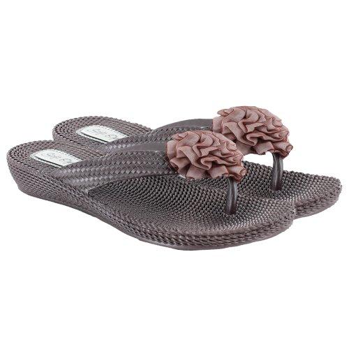 Footwear Sensation - Chanclas para mujer marrón - Brown Flower