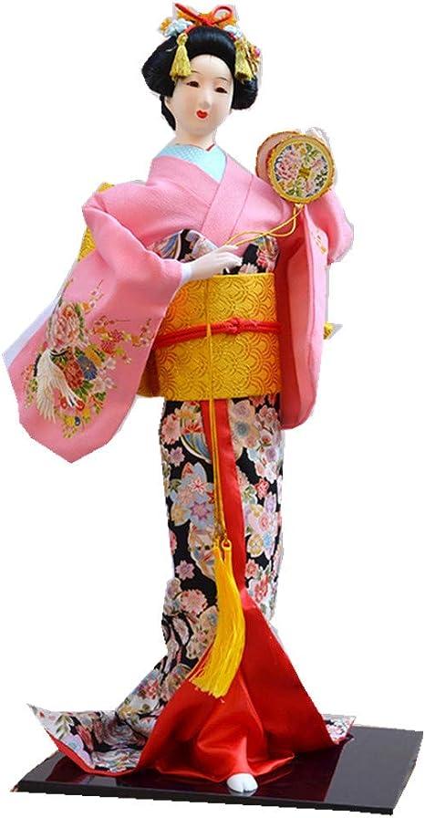 JG.Eshadoll 22inch 58cm Japanese Geisha Doll Furnishing Articles Red-JD0022-6 Random Various Style