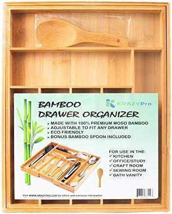Bamboo Drawer Organizer Expandable Premium product image