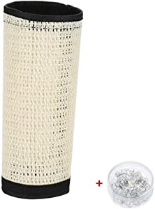 Cat Scratching Post - Flexible Sisal Cat Couch Guard Furniture Pads with Velcro and Spiral Pins Scratcher mat - 2Pack