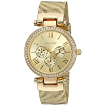 Rampage Women's 'Mesh Band' Quartz Metal and Alloy Automatic Watch, Color:Gold-Toned (Model: RP1133GD)